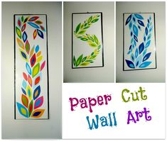 Have an empty wall? then this instructable can really help you! I always look for easy crafting, art and sewing. Paper cut art is one of my favorite. ...