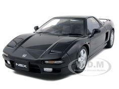1990 Honda Nsx Berlina Black Diecast Car Model 1/18 Die Cast Car By Autoart
