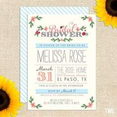 collection of the cutest bridal shower invites!