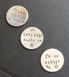 Geocaching swag or keepsakes: hand-stamped by TheStampingGrounds