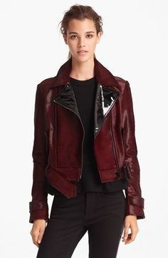 Burberry London Genuine Calf Hair Moto Jacket | Nordstrom (it's only a bazillionty dollars)