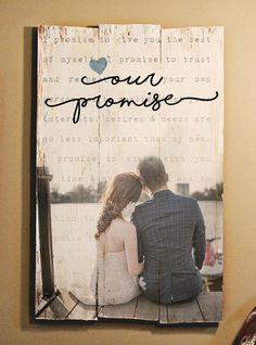 Large  photo on wood Valentines day gift Personalized Photo