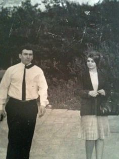 April 1965 - Reggie Kray and Frances Shea on their honeymoon in Athens, Greece.