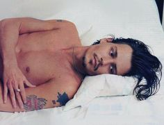 Johnny Depp. Looks so much like my hubby here....minus the long hair.