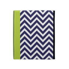 Navy Blue & Green Modern Chevron Stripes iPad Cases