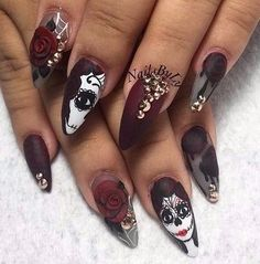 Cute halloween day of the dead nails beautify me pinterest day of the dead nails kortenstein prinsesfo Gallery