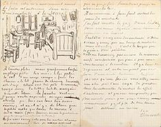 van gogh's autographed letter to gauguin, october 17,1888