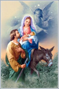 Jesus, Mary, and Joseph ~ The Holy Family. Merry Christmas, and may God bless you with his love and grace everyday.