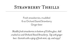 Posts about Wine Cocktails written by oliverwinery Collins Glass, Wine Cocktails, Ginger Beer, Strawberry, Posts, Messages, Strawberry Fruit, Ginger Ale, Strawberries