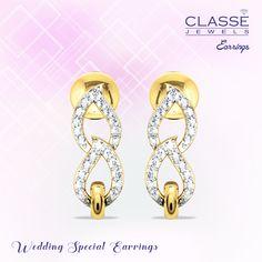 Gold Diamond Earrings, Diamond Jewelry, Jewellery, Jewels, Collection, Diamond Jewellery, Jewerly, Schmuck, Gemstones