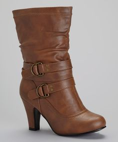 Take a look at this Charles Albert Cognac River Boot on zulily today!