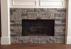 Airstone on a fireplace surround. Easy DIY product available at Lowe's.