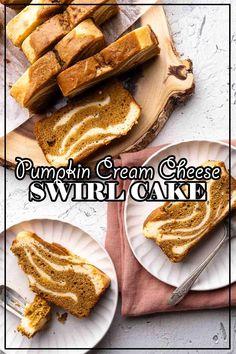 Pumpkin Spice Cake, Pumpkin Dessert, Pumpkin Bread, Desserts Menu, Fall Desserts, Dessert Recipes, Cupcake Recipes, Cupcake Cakes, Swirl Cake