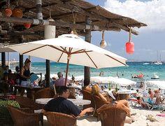 A bar at Salinas beach, Ibiza