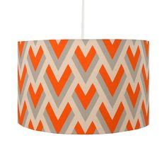 Luxury orange lamps lampshades and lighting retro vintage orange orange darts lampshade aloadofball Gallery