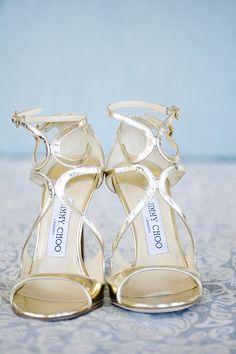Glamorous Jimmy Choo strappy heels