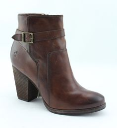 654968715c1 Frye Patty Riding Bootie Womens 3476983-rdd Redwood Leather BOOTS Shoes  Size 9.5 for sale online