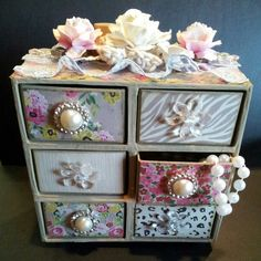 6 Drawer Jewelry Chest created by Bona Rivera-Tran. XL Candy Drawer Box