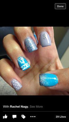 Blue. Sparkle. Nails.