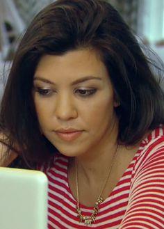 Kourtney Kardashian wearing our Renegade Necklace.