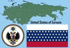 United States of Eurasia by PolandStronk on DeviantArt Planet Map, Map Symbols, Imaginary Maps, Rpg World, Fallen Empire, Map Layout, Fantasy Map, Alternate History, History Memes