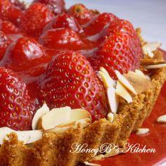 Strawberry Almond Cream Tart #strawberry #almond
