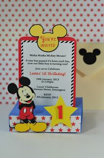 Mickey invitation henz 1st birthday ideas pinterest best find this pin and more on kid stuff mickey mouse inspired pop up invitations stopboris Image collections