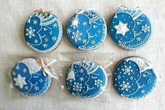 Beautiful blue cookies