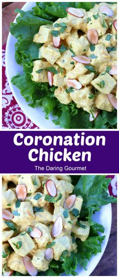 Originally created and served for Queen Elizabeth II's coronation in 1953, Coronation Chicken has remained a popular dish in Great Britain ever since. This recipe bumps up the flavor several notches for a truly delicious meal that can be enjoyed as a salad, with rice, on baked potatoes, or as a delicious sandwich filling! Best Chicken Dishes, Best Chicken Recipes, Risotto Recipes, Salad Recipes, Curry Recipes, Coronation Chicken Recipe, Sandwich Fillings, Curry Dishes, Dessert For Dinner