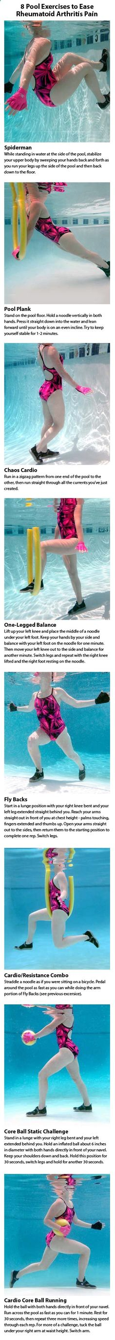 8 Pool Exercises to Ease Rheumatoid #Arthritis Pain www.mywellbeingma...