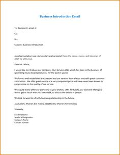 business introduction letter template … | Pinteres…