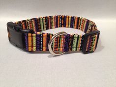 Halloween Stripes Dog Collar by ALeashACollar on Etsy
