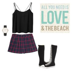 """64°"" by mims-out ❤ liked on Polyvore featuring Monki, Converse, MANGO and Daniel Wellington"