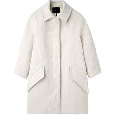 Isabel Marant Davy Coat (7 425 SEK) ❤ liked on Polyvore featuring outerwear, coats, jackets, coats & jackets, white coat, single breasted coat, isabel marant coat and isabel marant