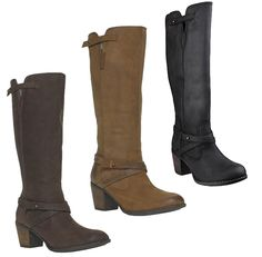 Womens Hush Puppies Gussie Moorland Knee High Leather Boots Sizes 3 to 10