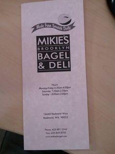 Mikie's Brooklyn Bagel, Redmond