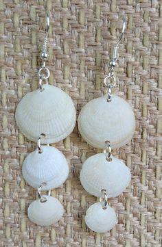 Sea shell earrings Hawaiian Shell Earrings by ALittlePieceOfTheSea