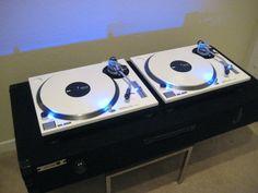 - Custom sprayed Technics Turntables / Blue LED kit. #dj #djculture #turntables #technics #twoturntables #music #djgear #custom #audio http://www.pinterest.com/TheHitman14/dj-culture-vinyl-fantasy/