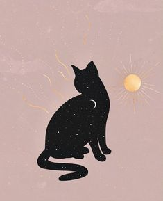 loves the sun but lives for the night ✦✶✧ Cat Drawing, Drawing Sketches, Drawings, Cute Wallpapers, Wallpaper Backgrounds, Dibujos Cute, Cat Art, Aesthetic Wallpapers, Illustration