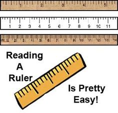How to Read a Ruler | Hard times, Student-centered resources and ESL