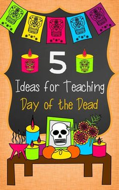 Ideas for teaching Day of the Dead (Día de los Muertos) in Spanish Class. Day Of Dead, Day Of The Dead Party, Spanish Lesson Plans, Spanish Lessons, Spanish 1, French Lessons, Elementary Spanish, Teaching Spanish, Spanish Teacher