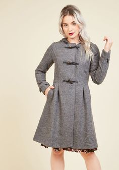 Set for the Solstice Coat in Pepper in M - Duffle - Plus Sizes Available