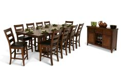 12pc pub style dining room set! 10 chairs, one table, one buffet. For my future formal living room!