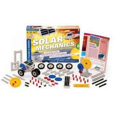 Build more than 20 solar-powered models to learn about how solar cells convert energy from sunlight into mechanical energy. Conduct experiments with the solar cell to see how different placement angles, different light levels, different sources of light, and different loads affect its operation. Learn about solar power in a fun, hands-on way. This kit includes a unique single-piece solar motor that is composed of a photovoltaic cell and an electric motor joined together in one compact unit…