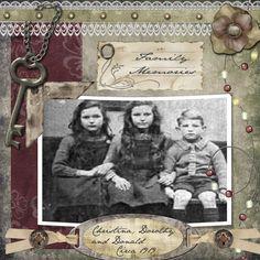 Family Memories...striking heritage digi page.