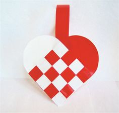 Danish+Woven+Heart+Decoration+or+Christmas+by+GreatDanePaperShop,+$12.00