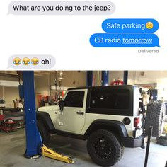 Da wife can smell a Jeep part from a mile away