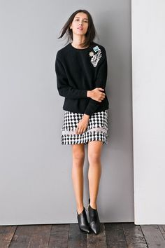 Go By The Boucle Skirt SK0071