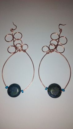 """""""Bubble Bath"""" Raw Copper earrings - TRJ"""