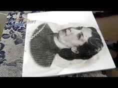 На белом мраморном памятнике делаем портрет.